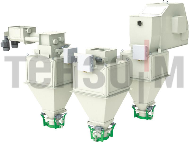 Дозаторы средней производительности для фасовки в открытые мешки до 50 кг
