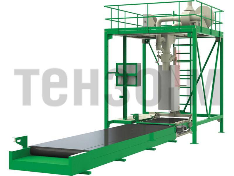 ДЕЛЬТА 1000Ф, ДЕЛЬТА 2000Ф дозатор для фасовки сыпучих материалов в контейнеры биг-бэг высокой производительности «ГЕРМЕС»