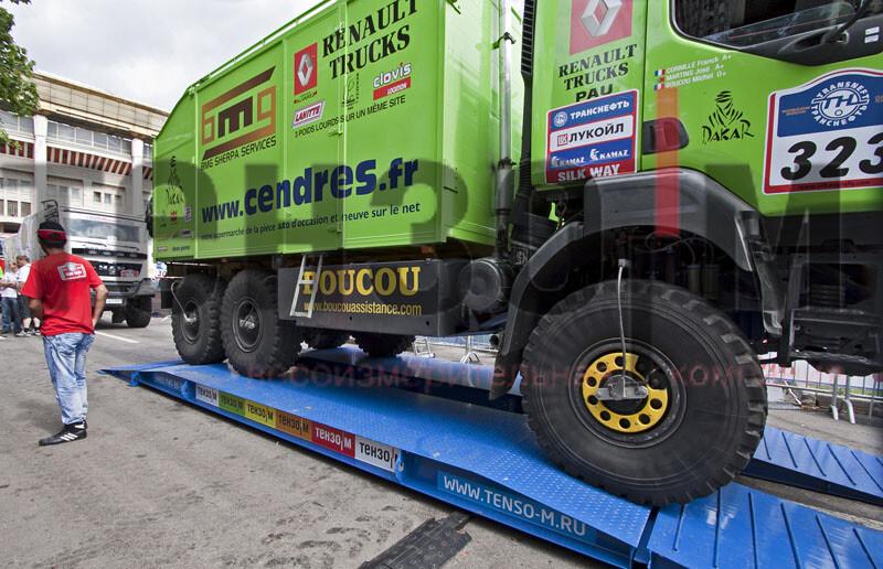 Автомобильные весы Фермер взвешивание трехосного грузовика на ралли «Шелковый путь-2011»